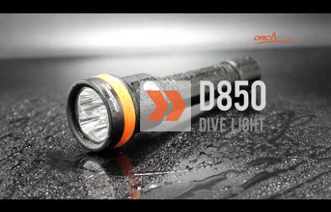 Presentation av OrcaTorch D850 Dive Light Max 2500 lumens.