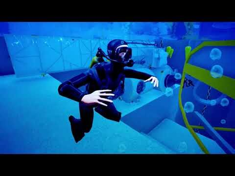 Videorendering: Dive into the Blue Abyss.Video: Blue Abyss