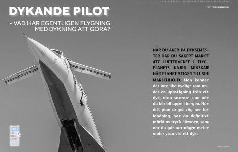 Dykande pilot – Vad har egentligen flygning med dykning att göra?