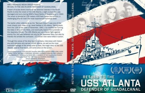 "Dvd-omslag till ""Return to USS Atlanta: Defender of Guadalcanal""."