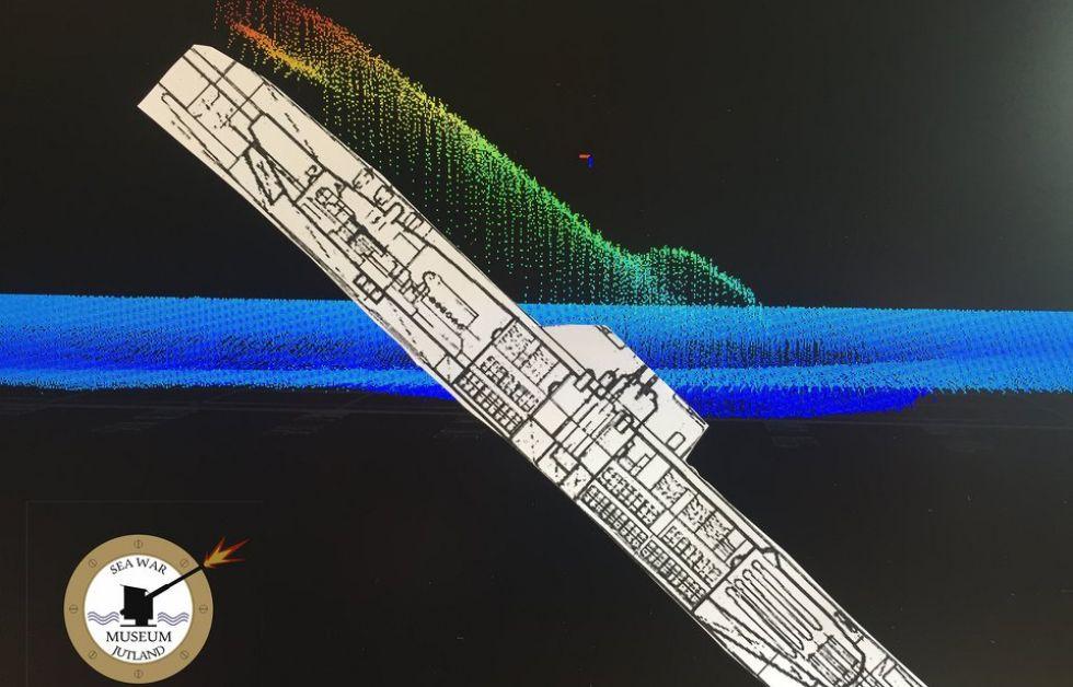 Skiss av den tyska ubåten U-3523