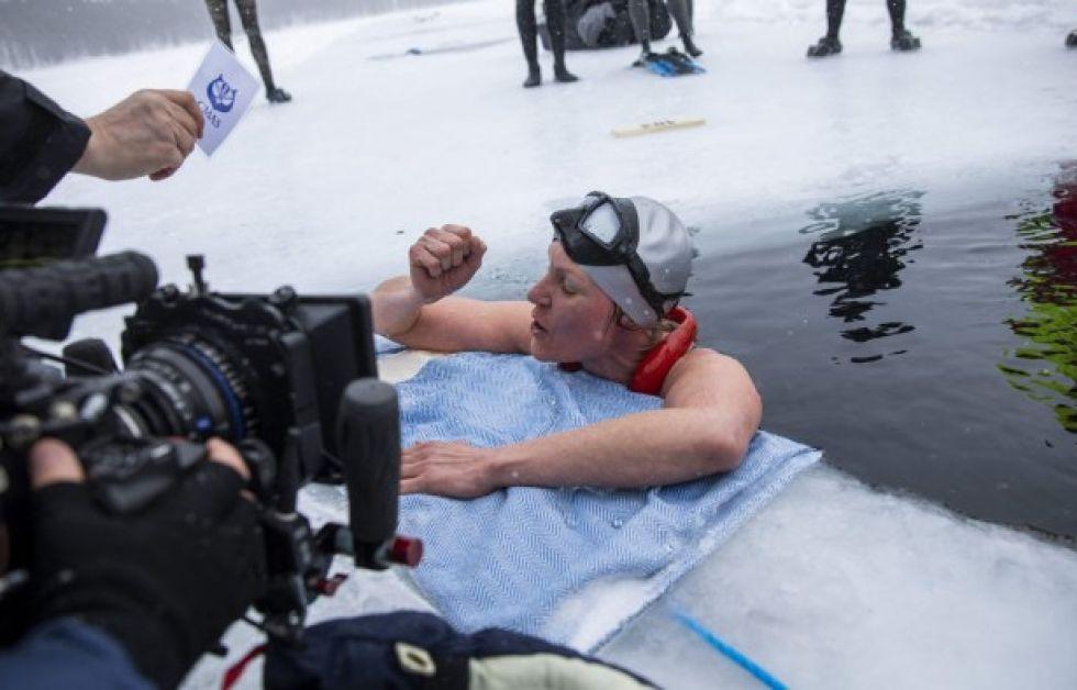 Johanna Nordblads världsrekord. Foto: AFP / Lehtikuva