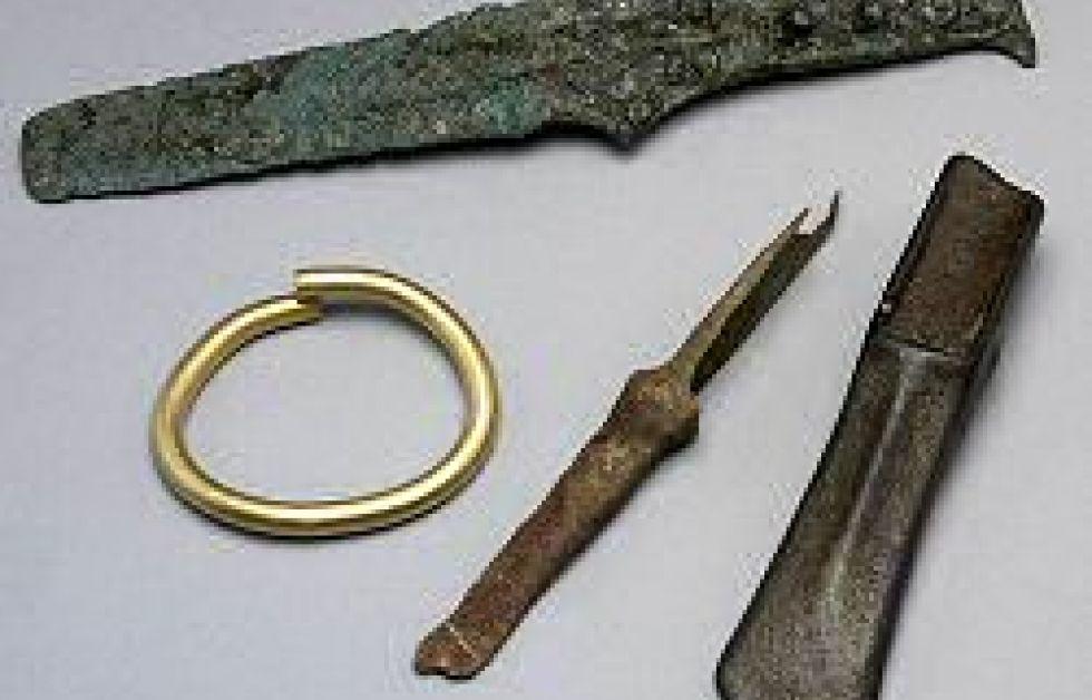 Bronsåldersfynd på 1700-tals vrak