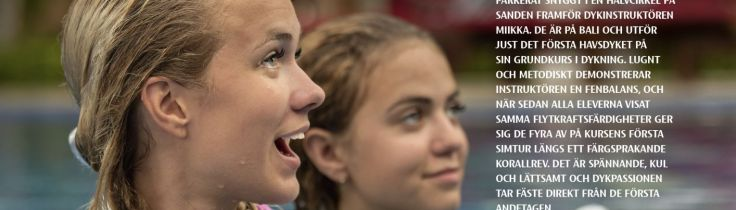 Dykpassion från första andetag – Juniorer lär sig dyka på resan