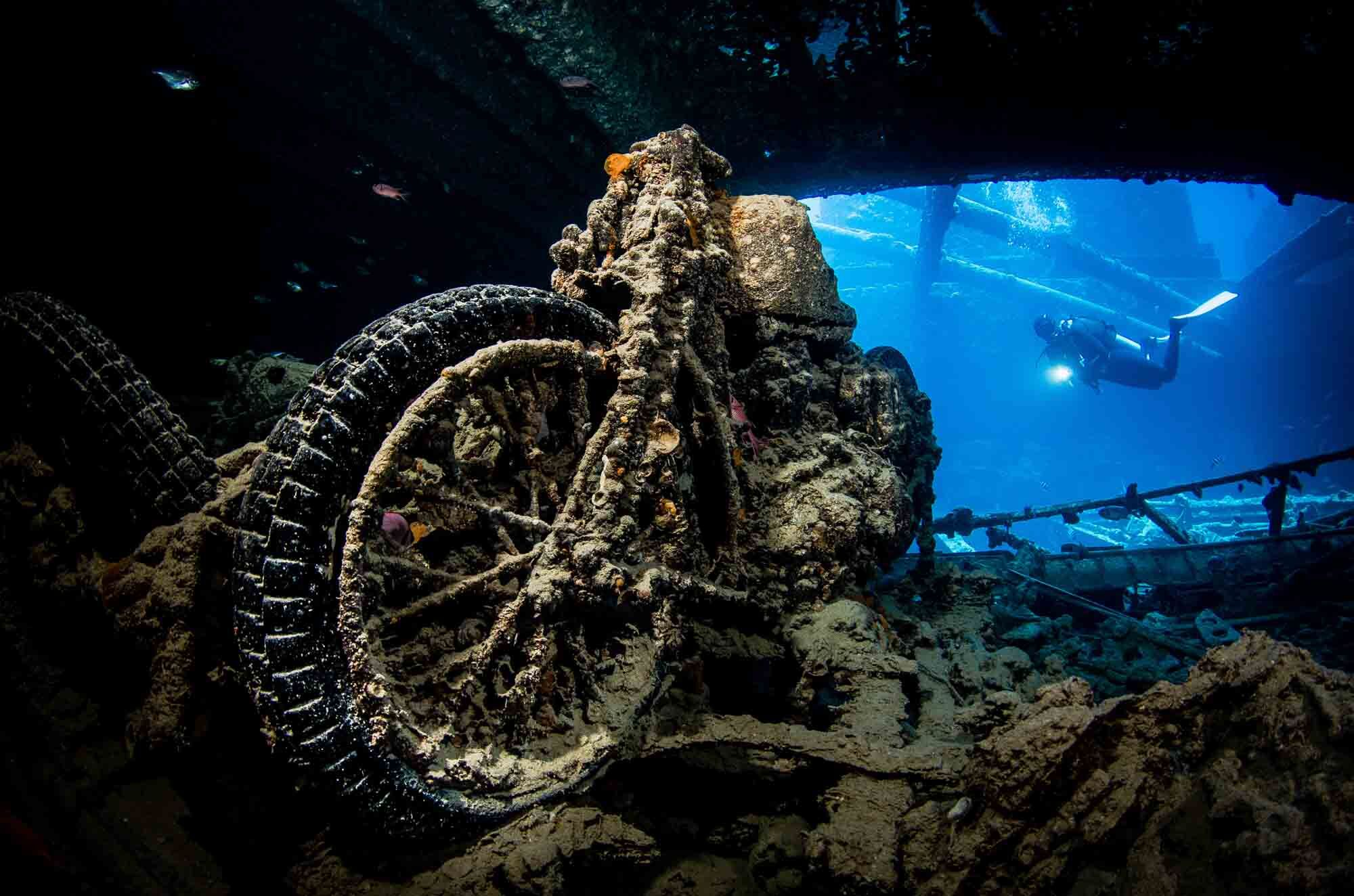 M20 motorcykel, vraket Thistlegorm